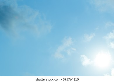 Cloudy sky with clear sky. - Shutterstock ID 595764110