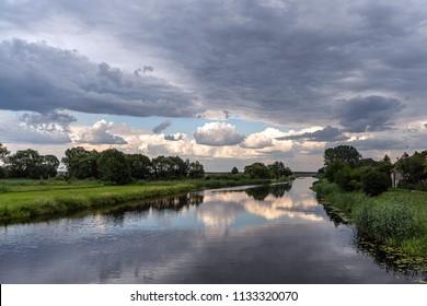 Cloudy sky just before the storm, Tykocin, Poland