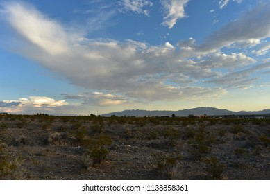 cloudy sky Mojave Desert Pahrump, Nevada, USA