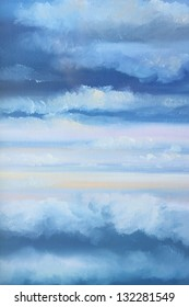 cloudy sky : oil color painting