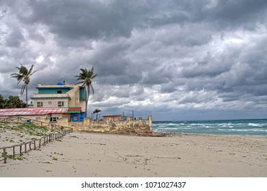 Cloudy sky over the beach in Varadero, Cuba.
