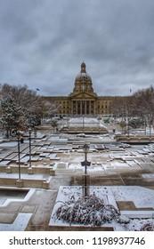 Cloudy Sky Over The Legislature