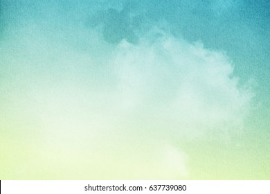 cloudy sky with pastel gradient color and grunge paper texture, nature abstract background