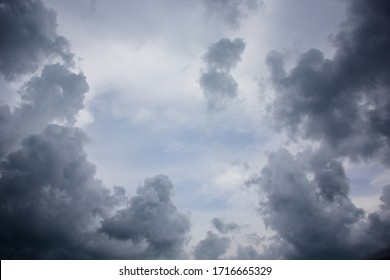 cloudy sky in rainy day.