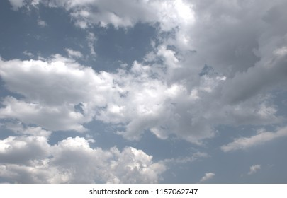 Cloudy sky in a sunny day