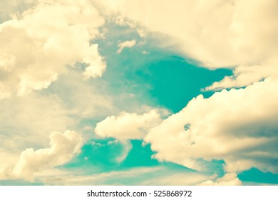 Cloudy sky vintage background