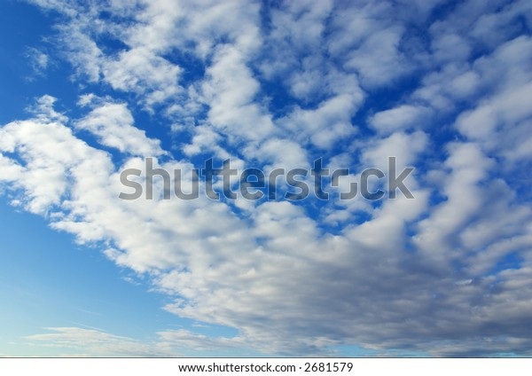 Cloudy sky in winter (can be use how background, wallpaper, texture)