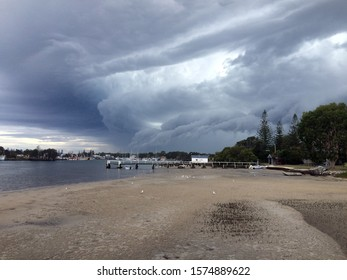 Cloudy storm coming on the Clarence River Australia