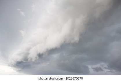 Cloudy storm in the sea before rainy. Tornado storms cloud above the sea. Monsoon season. Huge storm clouds with rain over sea , Strong winds, heavy rain storm.