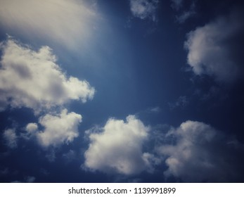 A cloudy sunny day