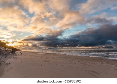 Cloudy sunset at the Baltic sea
