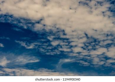 Cloudy UK sky