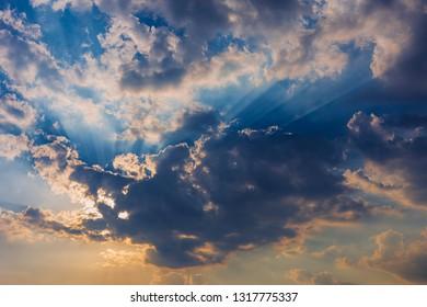 Clound and Light over sky.
