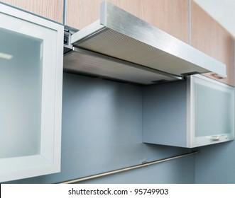 Clouseup range hood - detail of a modern kitchen