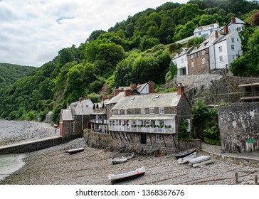 Clovelly coastal scene