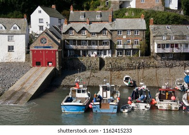 Clovelly. England. 08.21.07. Picturesque fishing village of Clovelly on the north coast of Devon in the United Kingdom.
