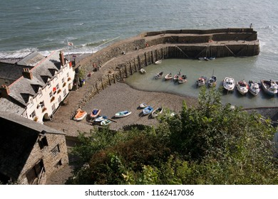 Clovelly. England. 08.21.07. The picturesque harbor at Clovelly on the north Devon coast in the United Kingdom.