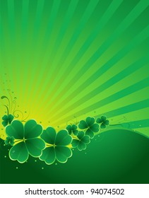 clover background for the St. Patrick's Day