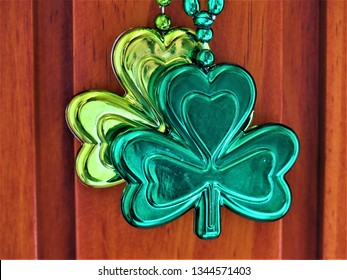 A cloverleaf necklace for St. Patrick's Day.