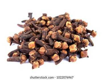 Cloves. Dry clove isolated on white. Carnation Spice.