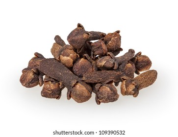 Cloves isolated on white background with clipping path