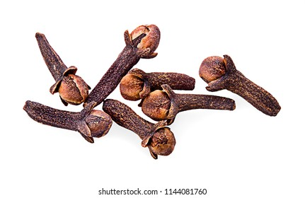 Cloves on a white background