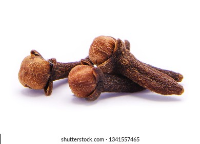 cloves or spice isolated on white background.