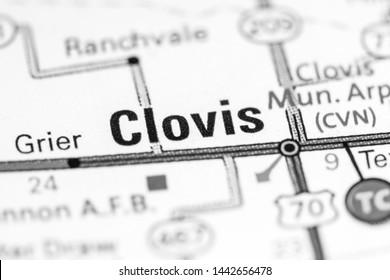 Clovis. New Mexico. USA on a map