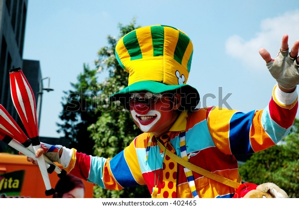 Clown in action