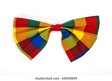 Clown bow tie isolated