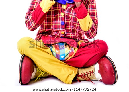 Clown Costume Isolated On White Background Stock Photo Edit Now