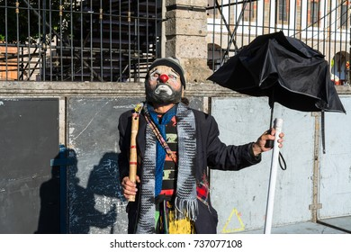 The clown in the feasts of the Virgin of Zapopan.