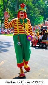 clown in a parade