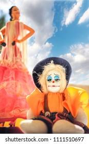 Clown trinkster man sad