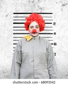 Clown Woman Gets Her Police Criminal Record Photograph Taken Down The Police Station After Being Caught In The Act