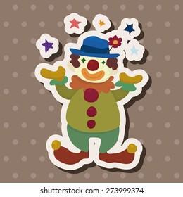 clowns , cartoon sticker icon