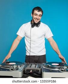 Club DJ  playing mixing music