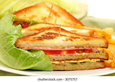 club sandwich ready for eat