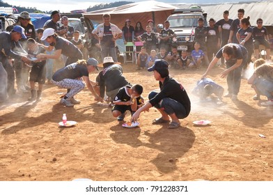 """Club volunteer group portraying """"Friends do not leave it"""" deal of the events and activities of the National Children's Day. at school Ban Mae Na Noi, Mae Hong Son, Thailand on January 1, 2018."""