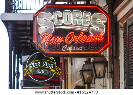Clubs Restaurants New Orleans Bourbon Street Stock Photo Edit Now