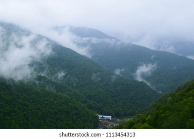 Cluds and mountains in Sochi