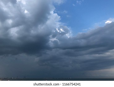 Cluds storm sky