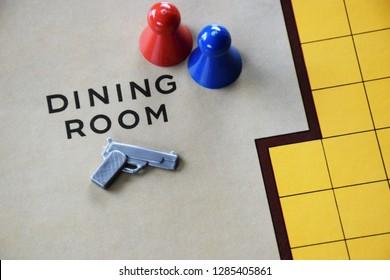 Cluedo Murder Mystery Board Game background