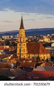 Cluj Napoca city at dusk