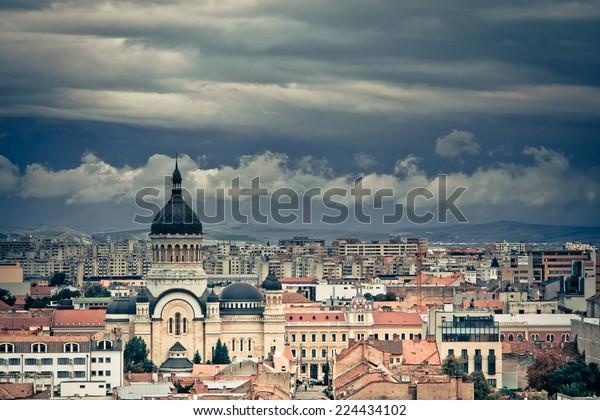 Cluj Napoca Dramatic Cloudy Skyline