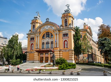 Cluj Napoca, Romania - July 31, 2018: The opera house of Cluj Napoca, Romania