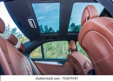 Cluj Napoca/Romania - Octomber 20, 2017: Mercedes Benz W204- year 2011, Avantgarde equipment, brown luxury leather interior, panoramic sunroof, memory seats, Xenon lights, Aluminium trims