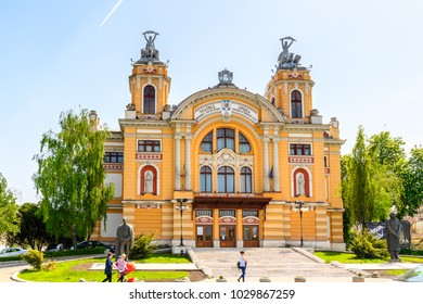 CLUJ, ROMANIA - JUNE 1, 2017:  Romanian National Opera of Cluj, the fourth most populous city in Romania