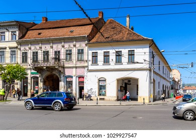 CLUJ, ROMANIA - JUNE 1, 2017:  Architecture of the centre of Cluj, the fourth most populous city in Romania