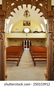CLUJ - SEPTEMBER 14: The interior of the newly built Greek Catholic Church. Romania has got the highest number of churches per capita in Europe. On September 14, 2011 in Cluj-Napoca, Romania